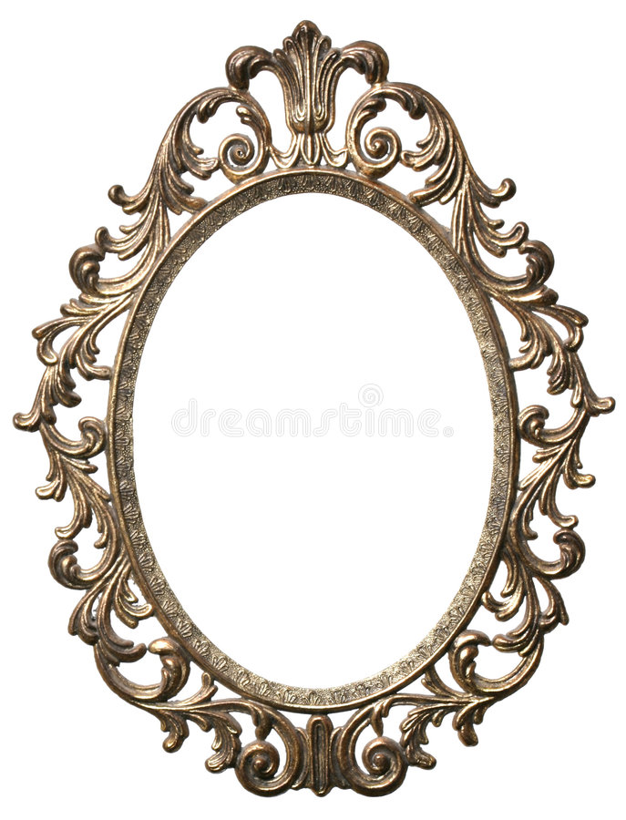 Decorative Oval Picture Frame Stock Photo Image Of