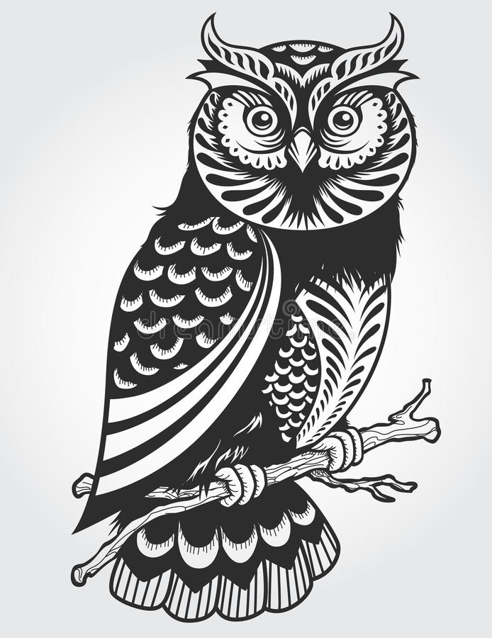 Decorative Owl. Abstract Decorative Owl Vector Illustration