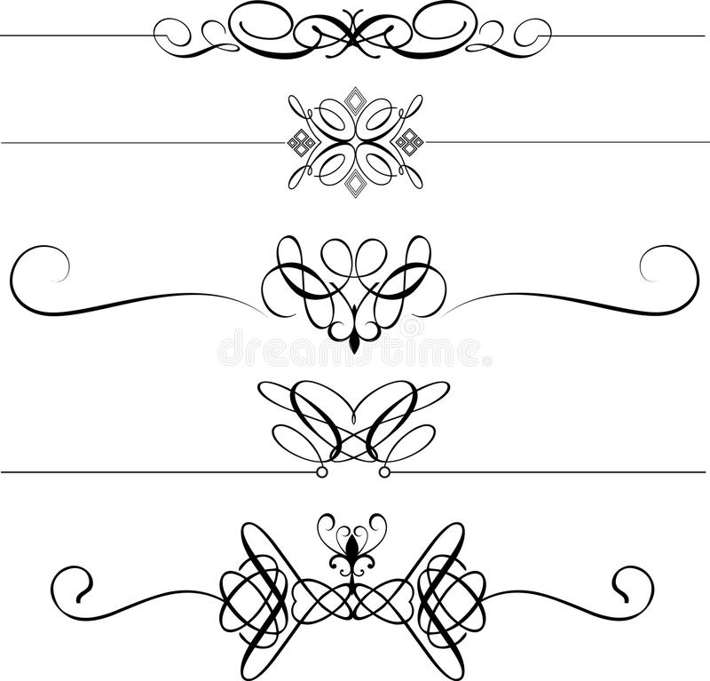 Download Decorative page dividers stock vector. Image of divider - 16403833