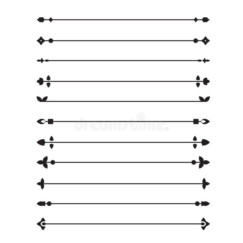 Decorative page dividers. Set of vector decorative page dividers or breaks vector illustration
