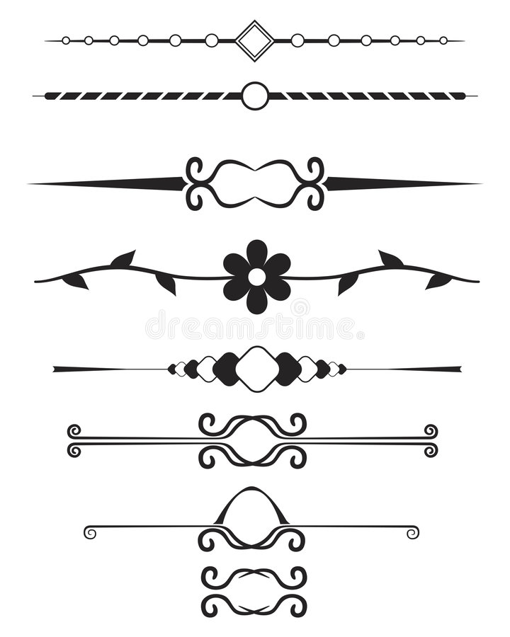 Download Decorative Page Elements stock vector. Illustration of lines - 608952