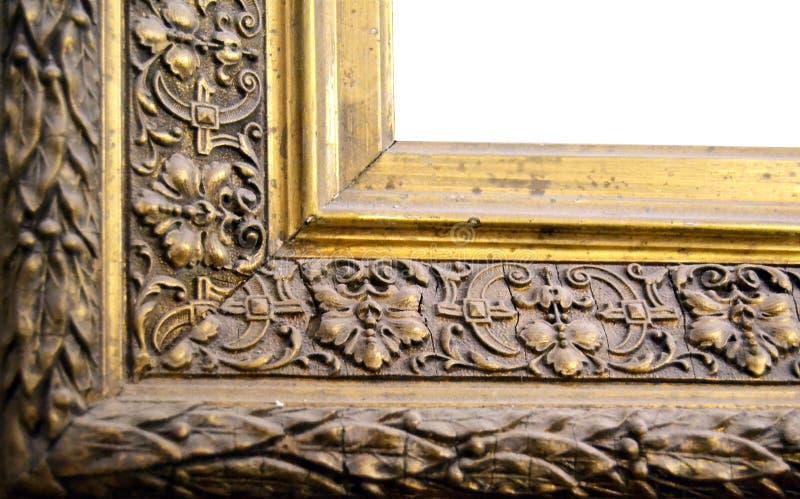 Decorative painting frame corner stock image