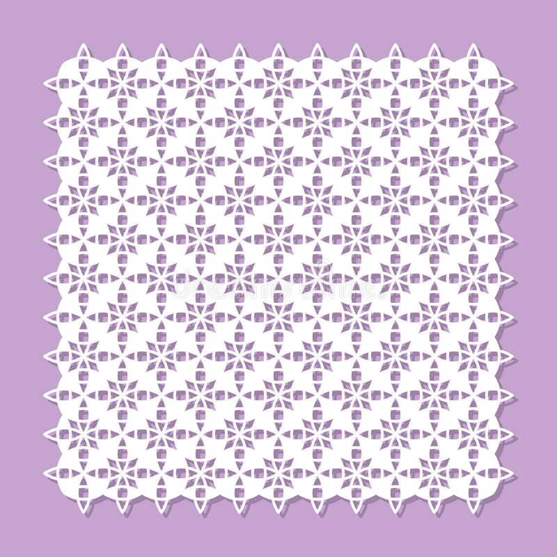 Decorative panel for laser cutting. Flower geometric pattern. The ratio is 1: 1. Vector illustration royalty free illustration