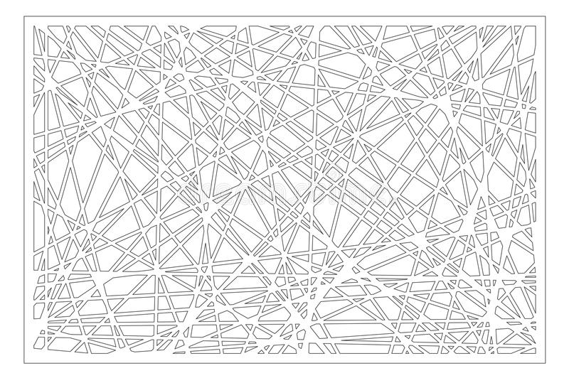 Decorative panel laser cutting. wooden panel. Elegant modern geometric abstract pattern. Ratio 2:3. Vector illustration.  stock illustration