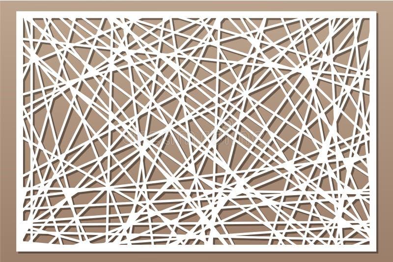 Decorative panel laser cutting. wooden panel. Elegant modern geometric abstract pattern. Ratio 2:3. Vector illustration.  royalty free illustration