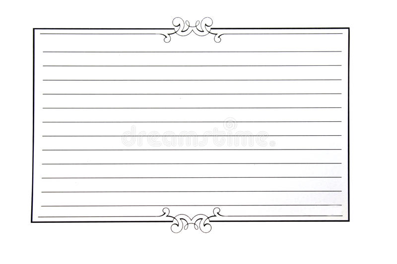 Decorative paper. With lines and scroll work isolated on whte background royalty free stock images