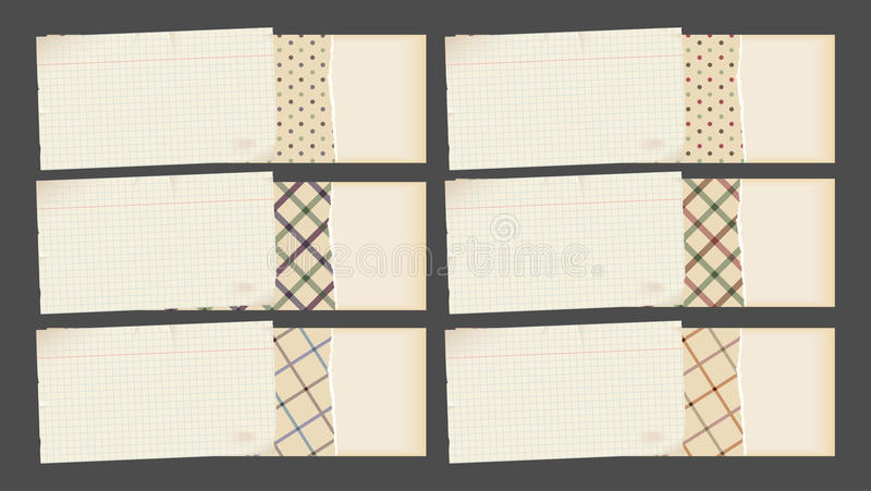 Download Decorative paper banners stock vector. Image of dirty - 22710863