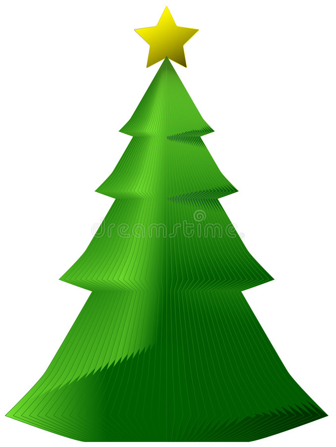 Decorative Paper Xmas Tree Royalty Free Stock Photos