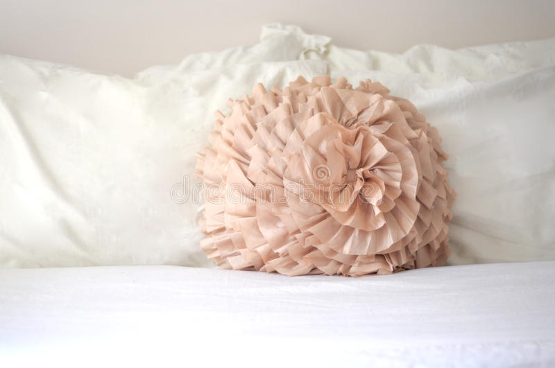 Download Decorative Pastel Bedroom Pillow Stock Image - Image of simplicity, bedding: 25546947