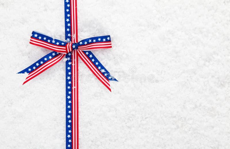 Decorative patriotic American ribbon