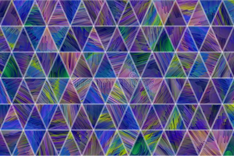 Decorative and pattern of geometric triangle strip illustrations. Concept, surface, backdrop & wallpaper. stock illustration