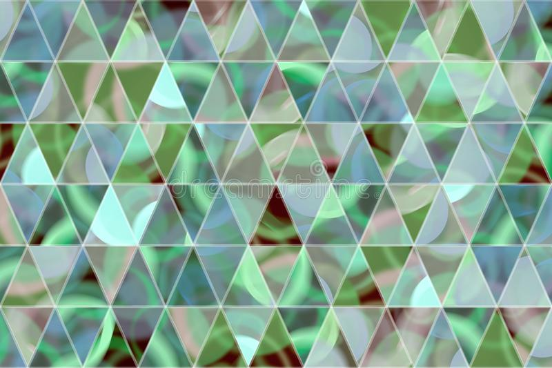 Decorative and pattern of geometric triangle strip illustrations. Concept, texture, wallpaper & web. stock illustration
