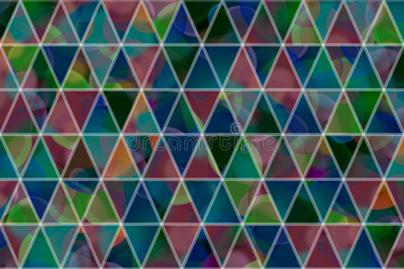 Decorative and pattern of geometric triangle strip illustrations. Cover, generative, surface & messy. vector illustration