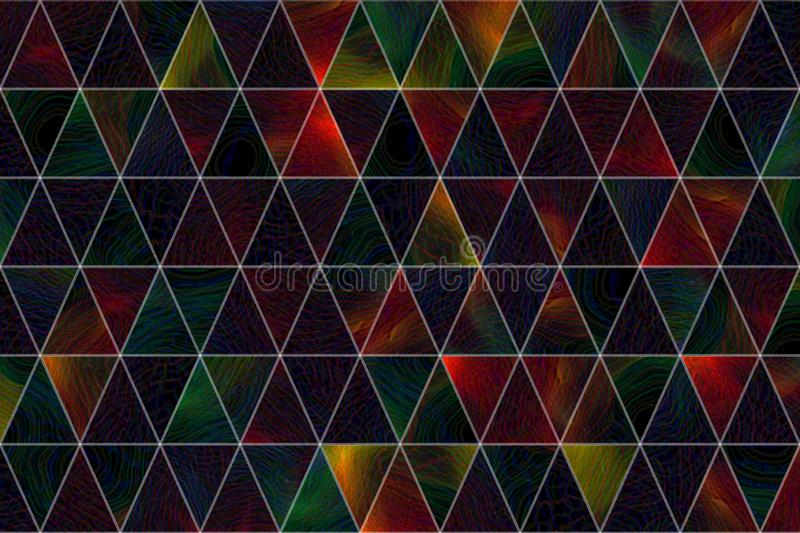 Decorative and pattern of geometric triangle strip illustrations. Effect, art, colorful & shape. royalty free illustration