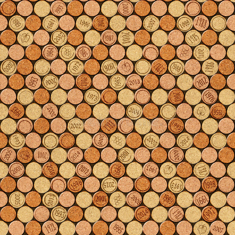 Free Decorative Pattern Of Wine Bottles Corks - Seamless Background Royalty Free Stock Photography - 64033767