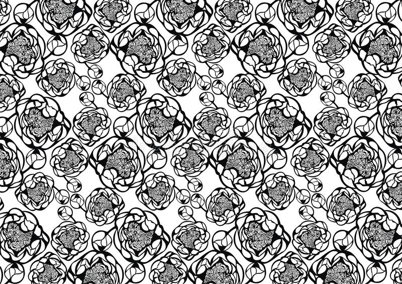 Download Decorative Pattern With Ornamental Peony Stock Illustration - Image: 23176123