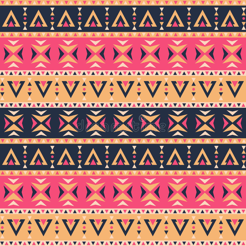 Decorative patterns ethnic style stock illustration