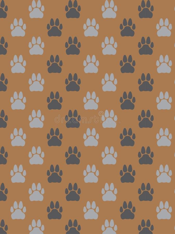Decorative paws pattern royalty free stock photos
