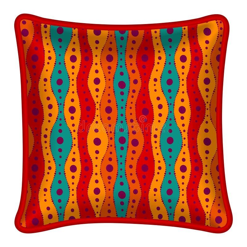 Decorative pillow vector illustration
