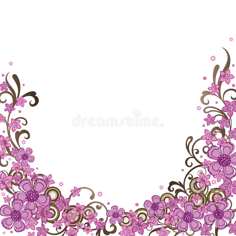 Download Decorative Pink Floral Border Stock Vector - Illustration of ornament, birthday: 13352244