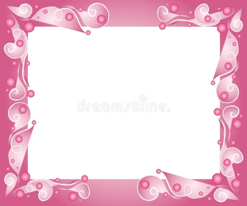 Decorative Pink Frame Border Stock Illustration - Illustration of ...