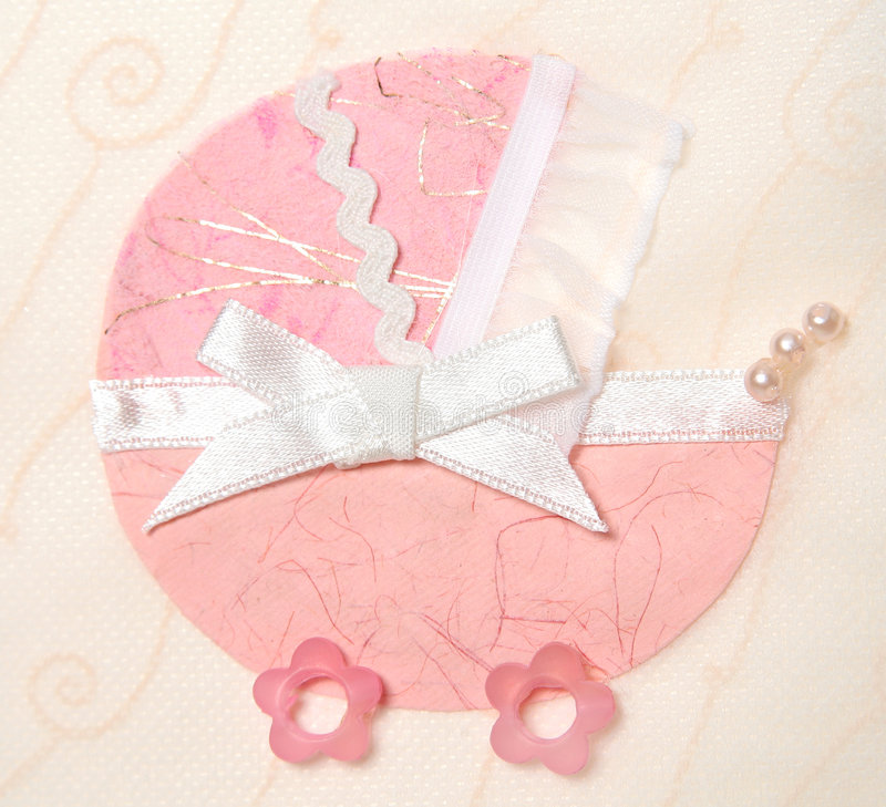 Decorative pink pram stock images