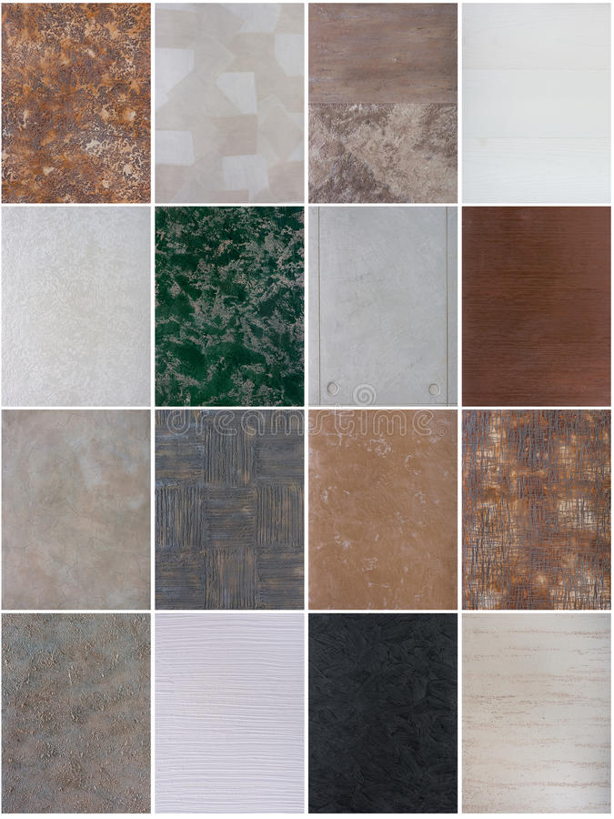 Decorative plaster patterns. Mixed together stock photography