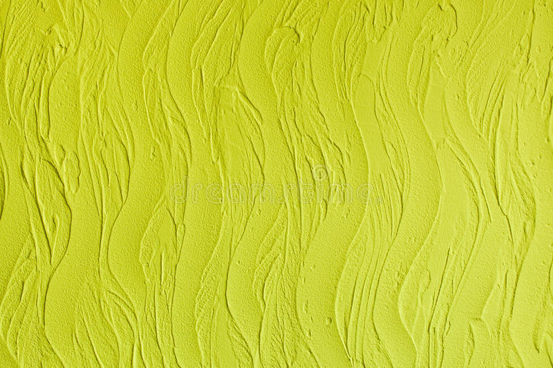 Decorative Plaster. Wall Stucco Texture. In Style Waves, Lemon ...