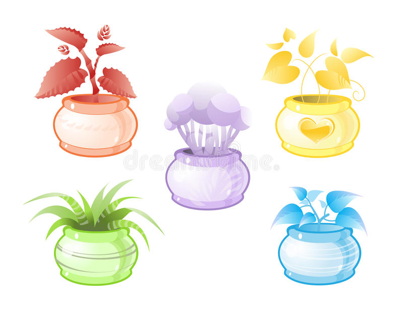 Download Decorative Pot Plants Stock Photos - Image: 14341223