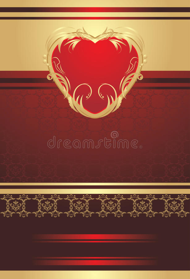 Download Decorative Red Heart On The Background Stock Image - Image: 20992291
