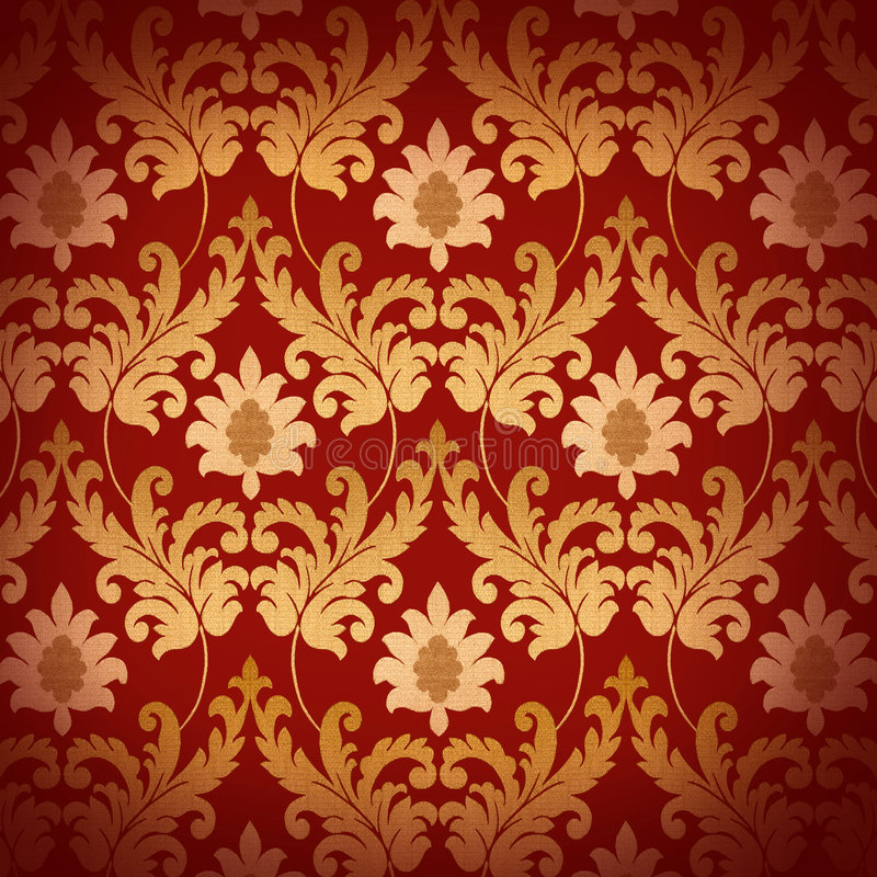 Decorative red renaissance background stock photography