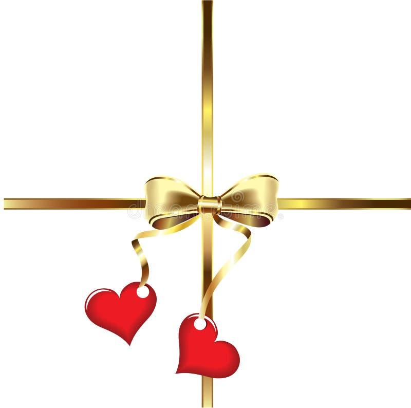 Decorative red valentine heart vector illustration