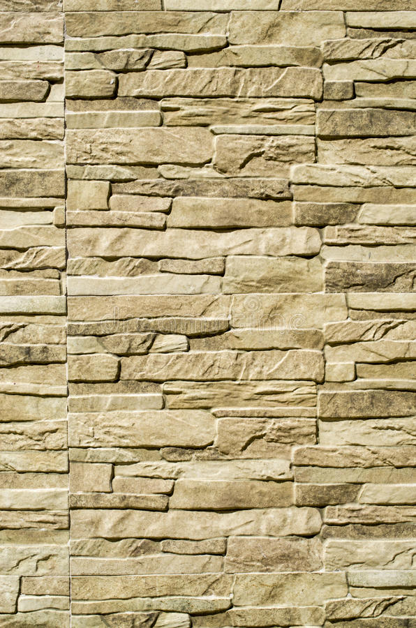 Decorative Relief Cladding Slabs Imitating Stones On Wall Stock ...