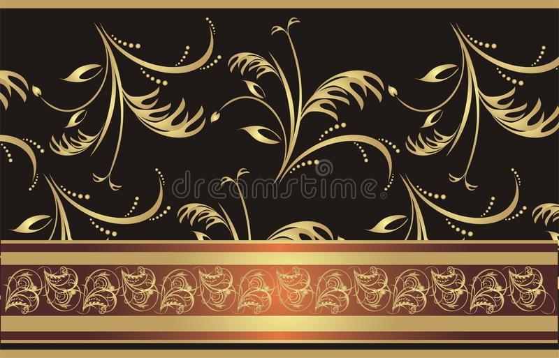 Download Decorative Ribbon On The Floral Background Stock Vector - Illustration: 10651489