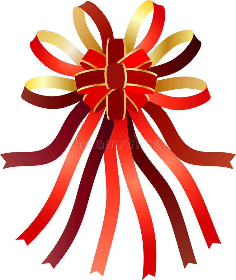 Decorative Ribbons In Bow Stock Photo