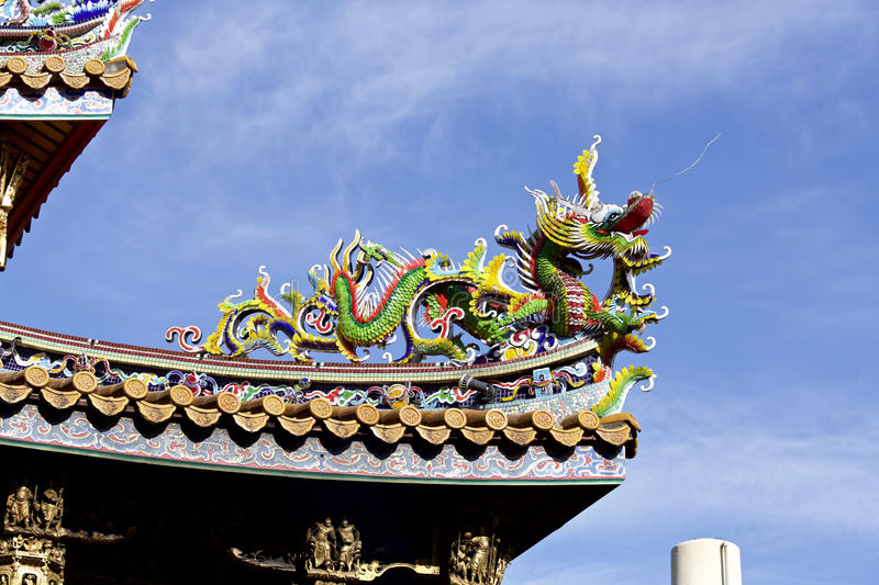 Decorative roof of the chinatown. A decorative roof of the very beautiful chinatown stock image