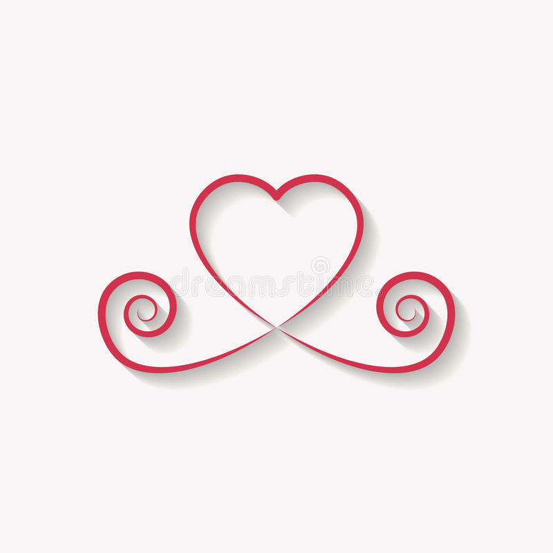 Decorative rose gold heart icon. glitter logo, love symbol with vector illustration