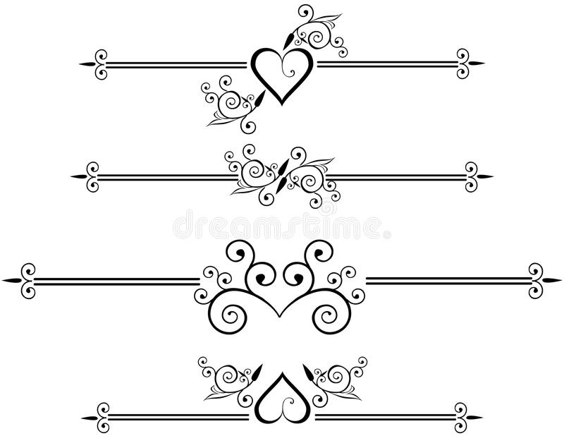 Decorative Rule lines royalty free illustration