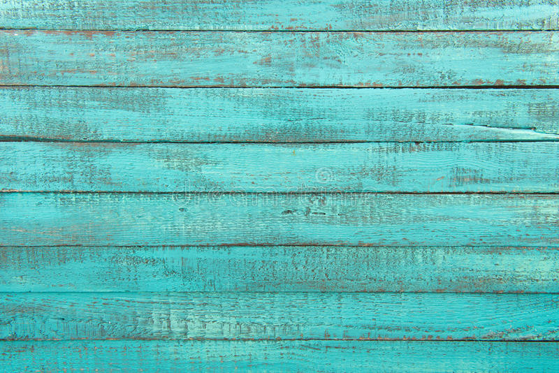 Download Decorative Rustic Turquoise Wooden Background With Horizontal Planks Stock Image
