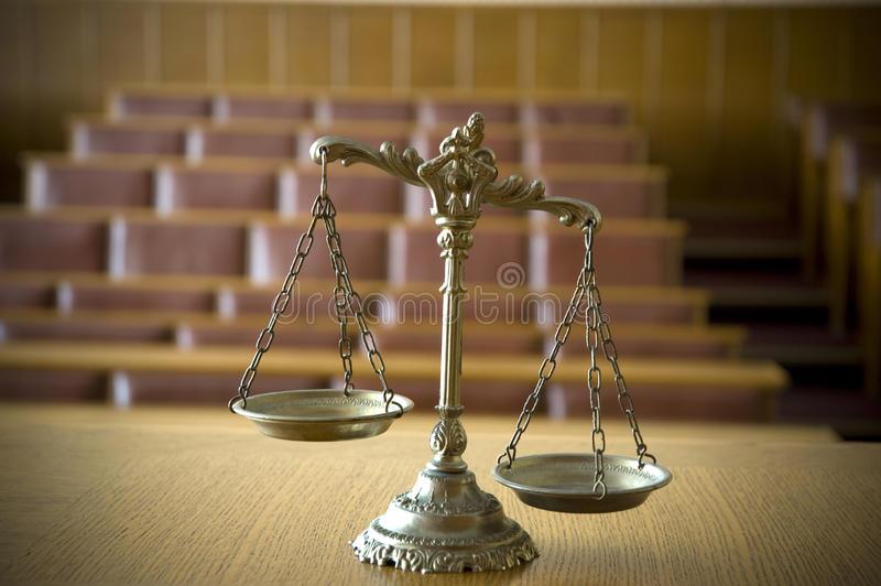 Download Decorative Scales Of Justice In The Courtroom Stock Photo - Image of judge, bronze: 25248010