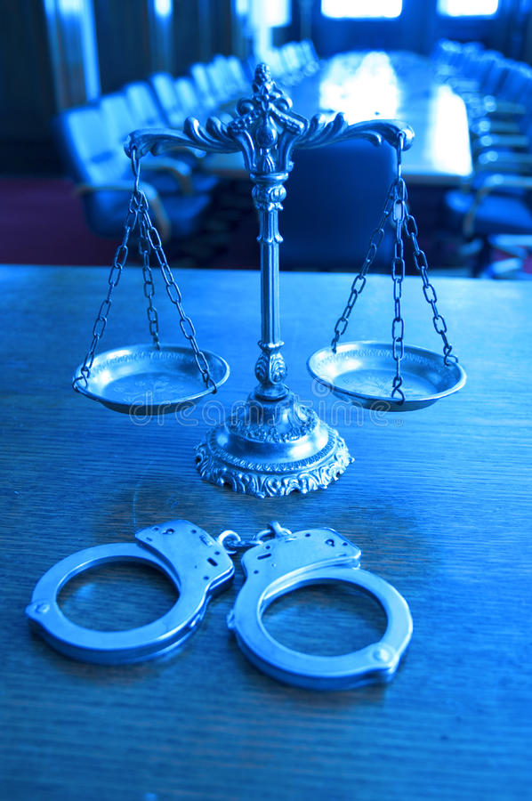Download Decorative Scales Of Justice In The Courtroom Stock Image - Image: 30326013