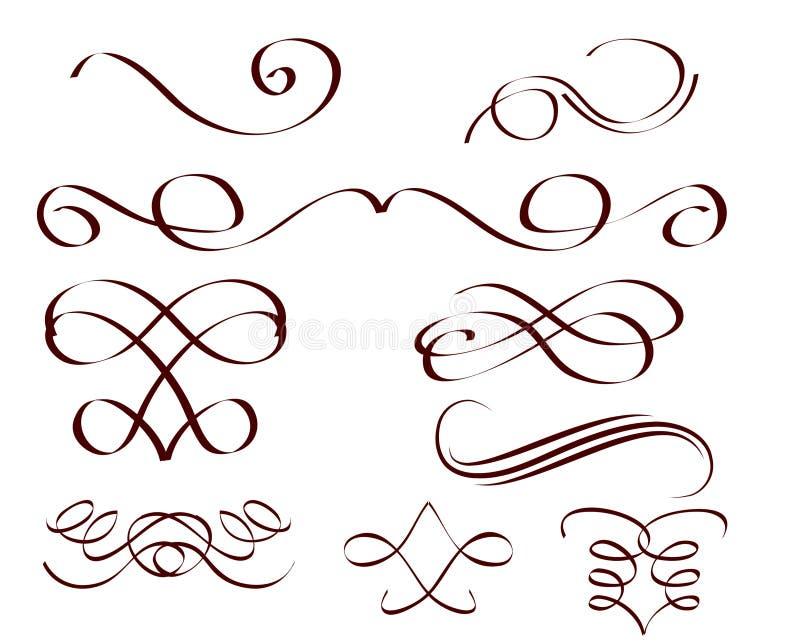 Decorative scrolls vector illustration