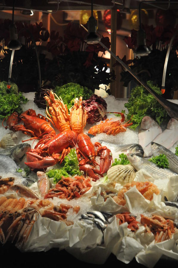 Decorative Seafood stock photo