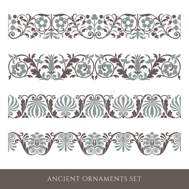 Decorative seamless border royalty free stock image