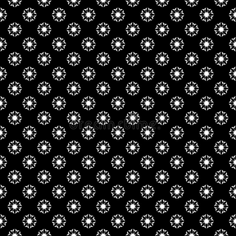 Decorative Seamless Floral diagonal Geometric Black & White Pattern Background. Complicated, material. Vector modern seamless geometry pattern star, black and royalty free illustration