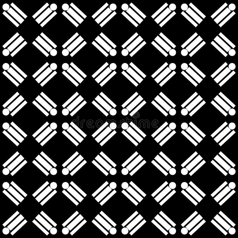 Decorative Seamless Floral diagonal Geometric Black & White Pattern Background. Complicated, material. Vector modern seamless geometry pattern star, black and vector illustration