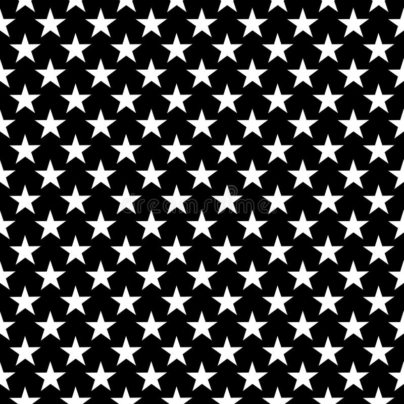 Seamless Star Pattern geometry pattern star, black and white abstract royalty free illustration