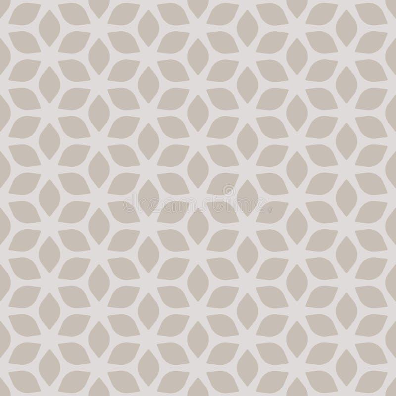 Decorative Seamless Floral Geometric Gold & Beige Pattern Background vector illustration