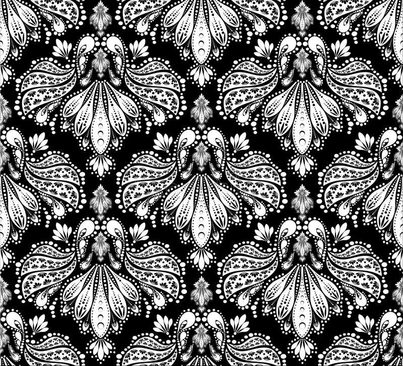 Decorative seamless floral ornament vector illustration