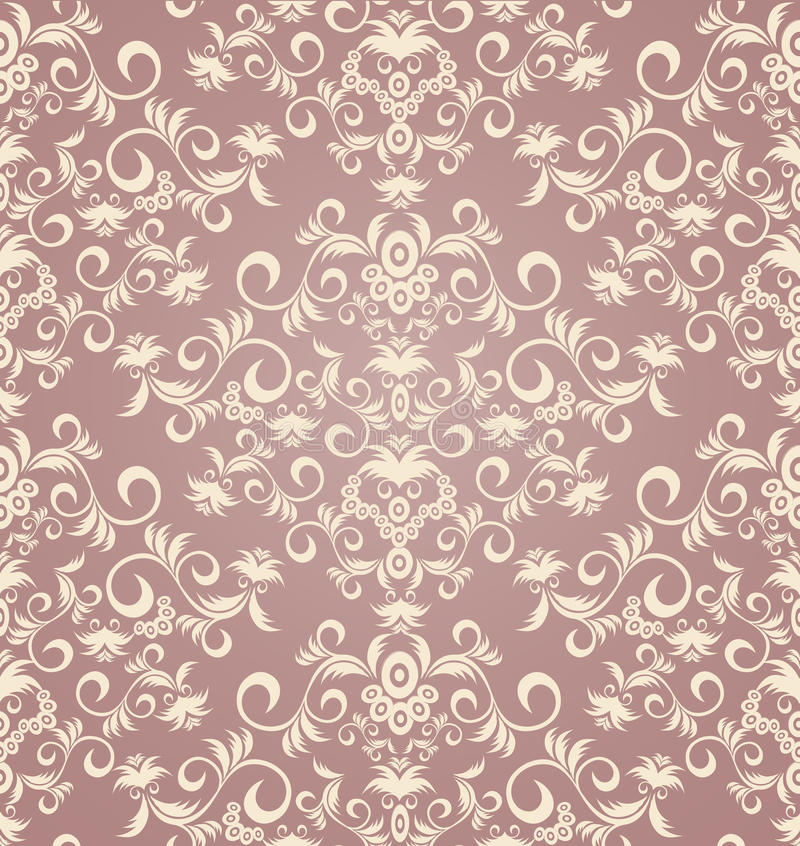 Decorative seamless floral ornament royalty free illustration